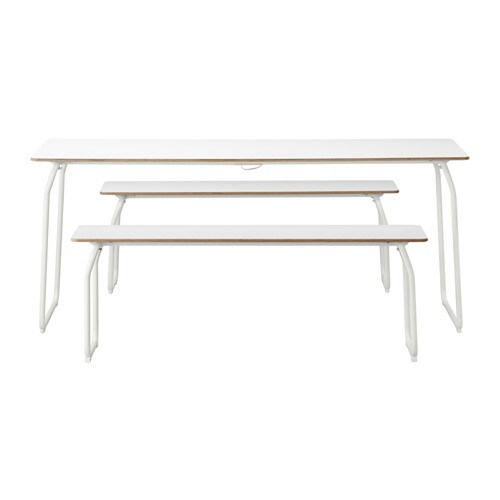 IKEA IKEA PS 2014 table+2 benches, in/outdoor