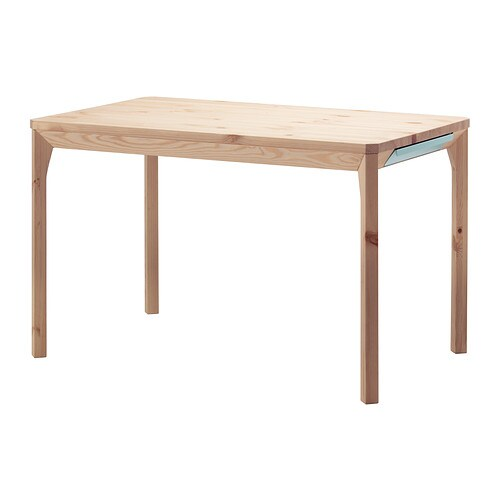 Ikea ps 2014 table pine 120x75 cm ikea for Pine desk ikea