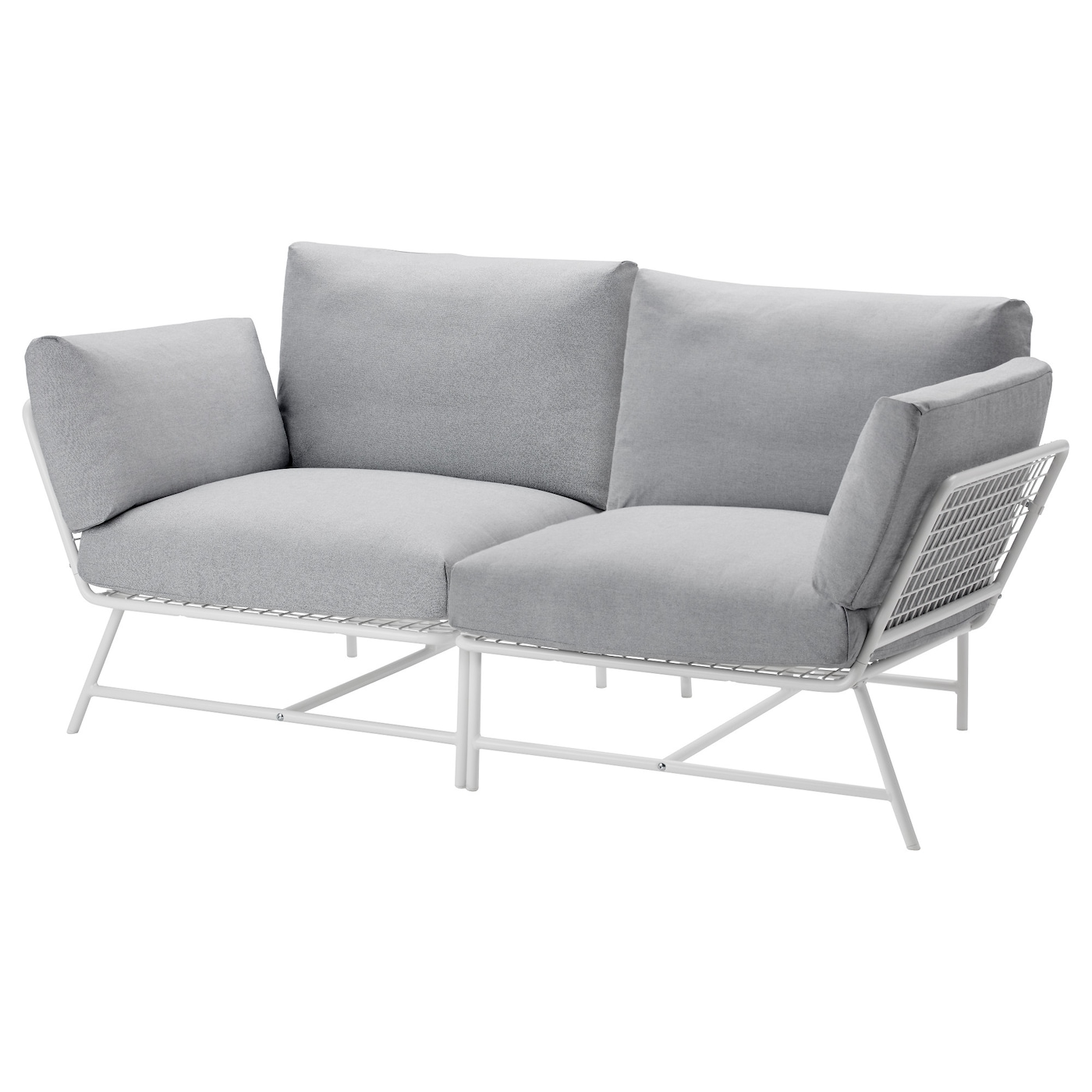 Ikea ps 2017 2 seat sofa white grey ikea for Sofa jugendzimmer ikea