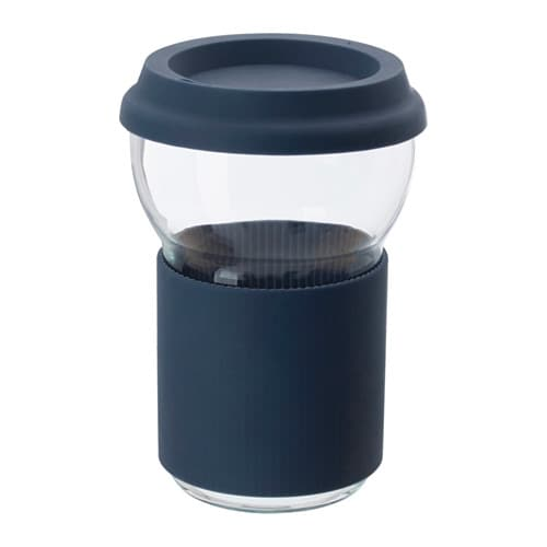 IKEA IKEA PS 2017 mug with lid Silicone provides a firm grip and is heat-insulating.