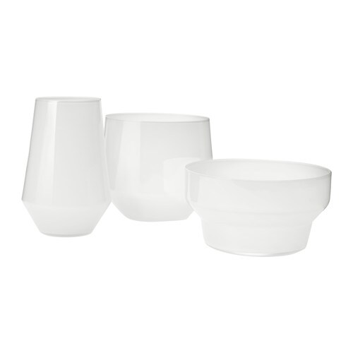 Ikea ps 2017 vase set of 3 white ikea - Vase cylindrique ikea ...