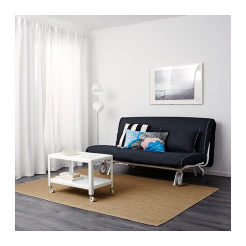 ikea ps murbo two seat sofa bed vansta dark blue ikea. Black Bedroom Furniture Sets. Home Design Ideas