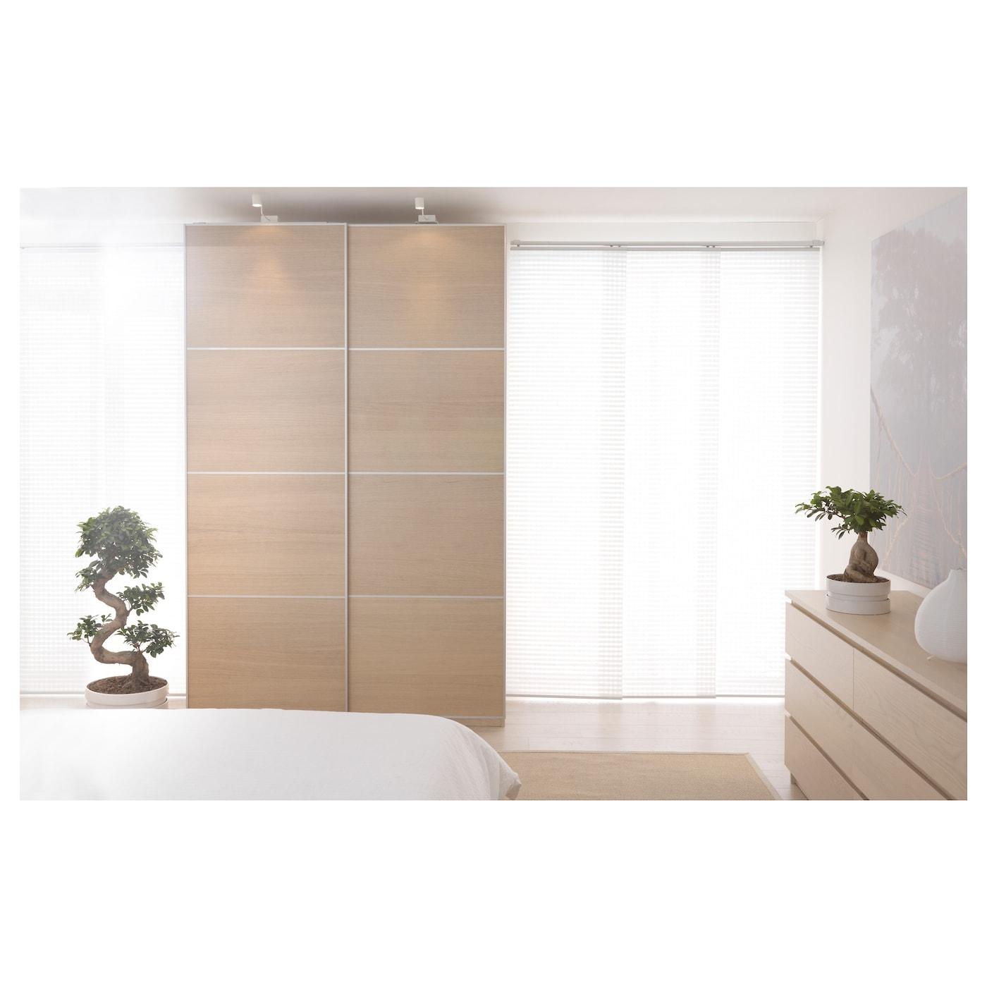 Ilseng Pair Of Sliding Doors White Stained Oak Veneer