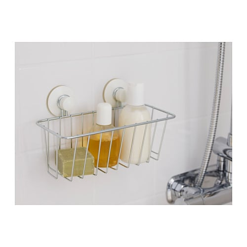 IMMELN Shower basket Zinc plated 24x14 cm - IKEA
