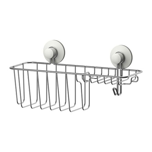 IKEA IMMELN shower/soap basket with hook