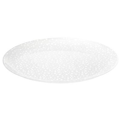 INBJUDEN Plate, frosted glass, 26 cm