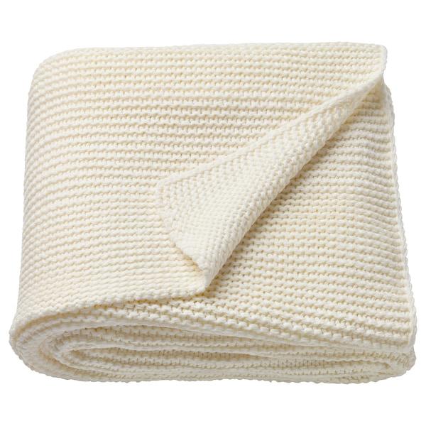 INGABRITTA Throw, off-white, 130x170 cm