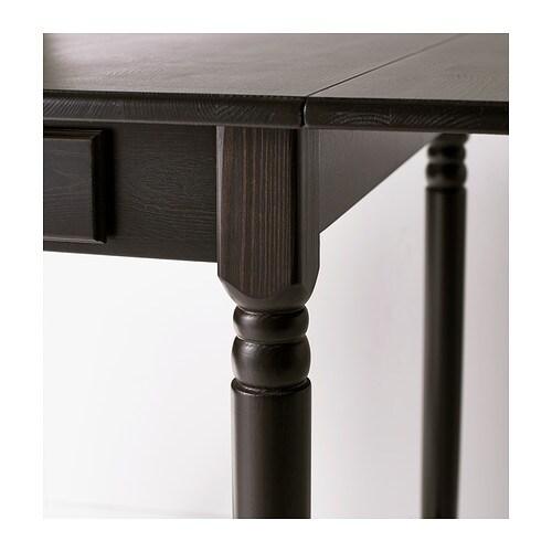 INGATORP Drop leaf Table Black brown 5988117x78 Cm IKEA