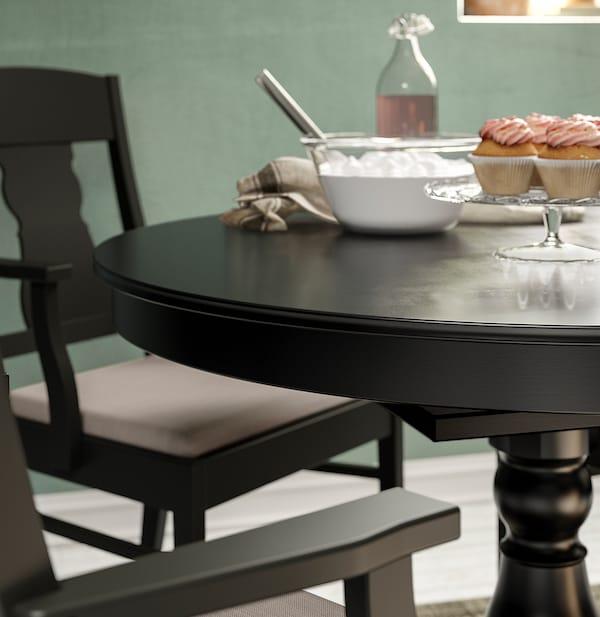 INGATORP extendable table black 155 cm 74 cm 110 cm