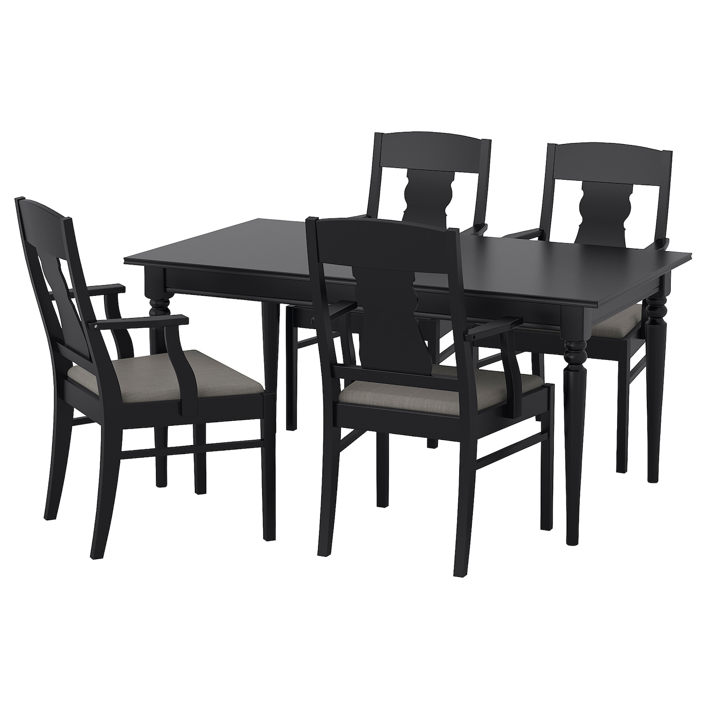 ingatorp ingatorp table and 4 chairs black 155 cm ikea. Black Bedroom Furniture Sets. Home Design Ideas