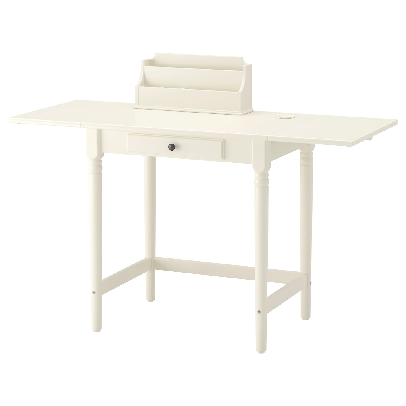 IKEA INGATORP table The add-on unit can be placed on the table top or hung on a wall.