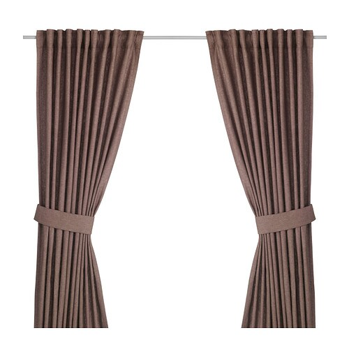 IKEA INGERT curtains with tie-backs, 1 pair