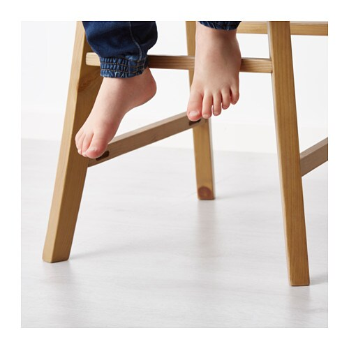 ikea ingolf junior chair gives the right seat height for the child at