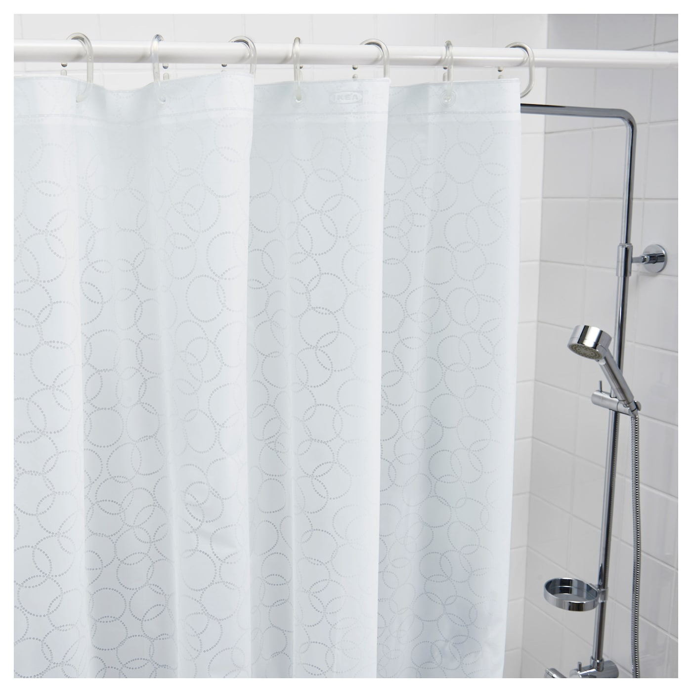 IKEA INNAREN shower curtain Can be easily cut to the desired length.