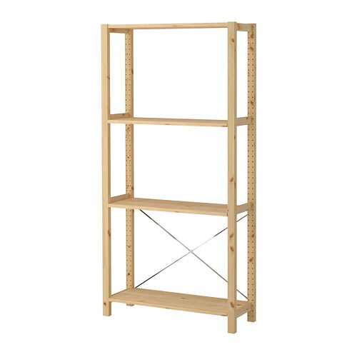 IKEA IVAR 1 section/shelves You can move shelves and adapt spacing to suit your needs.
