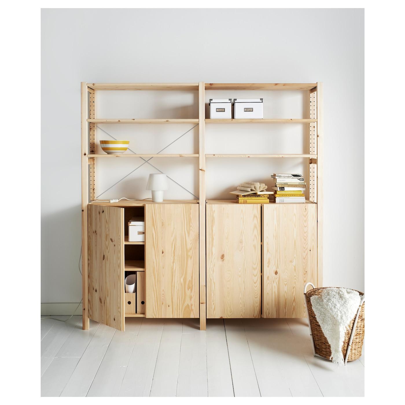 ivar 2 sections shelves cabinet pine 174x30x179 cm ikea. Black Bedroom Furniture Sets. Home Design Ideas