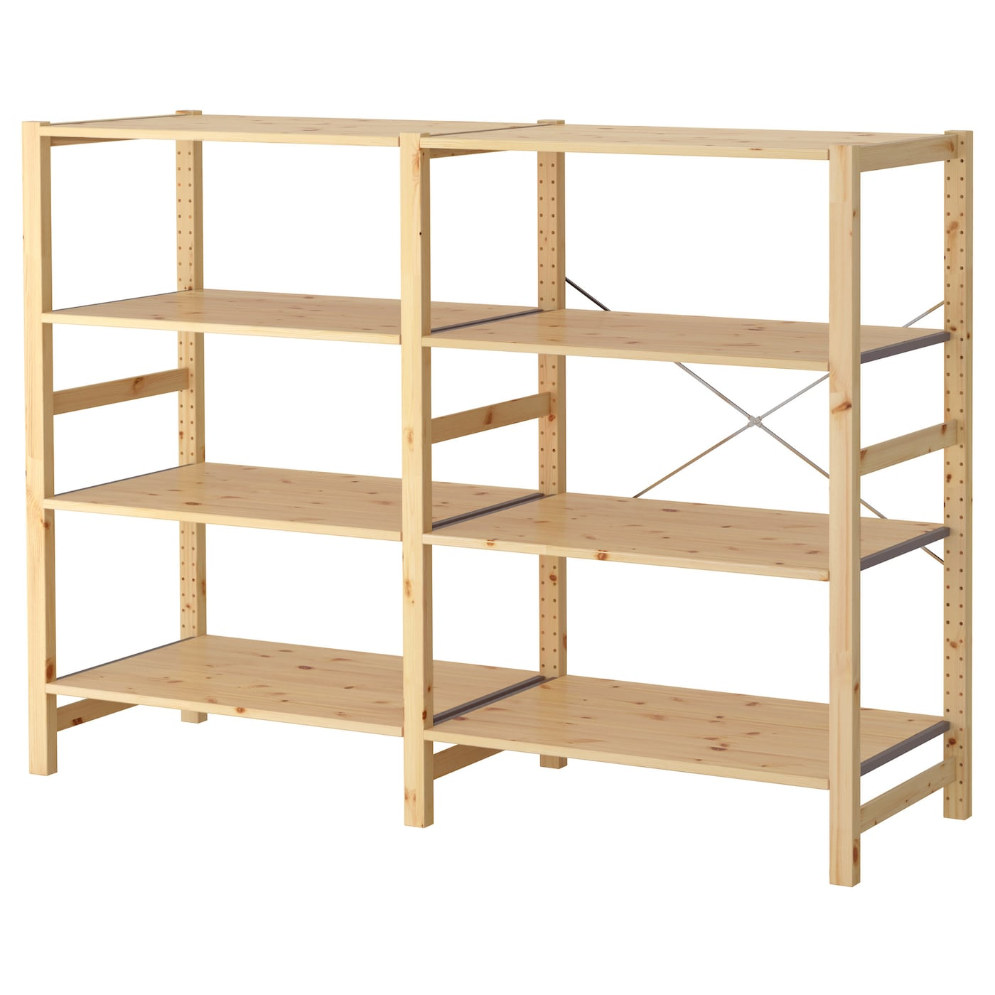 ivar 2 sections shelves pine 174x50x124 cm ikea. Black Bedroom Furniture Sets. Home Design Ideas
