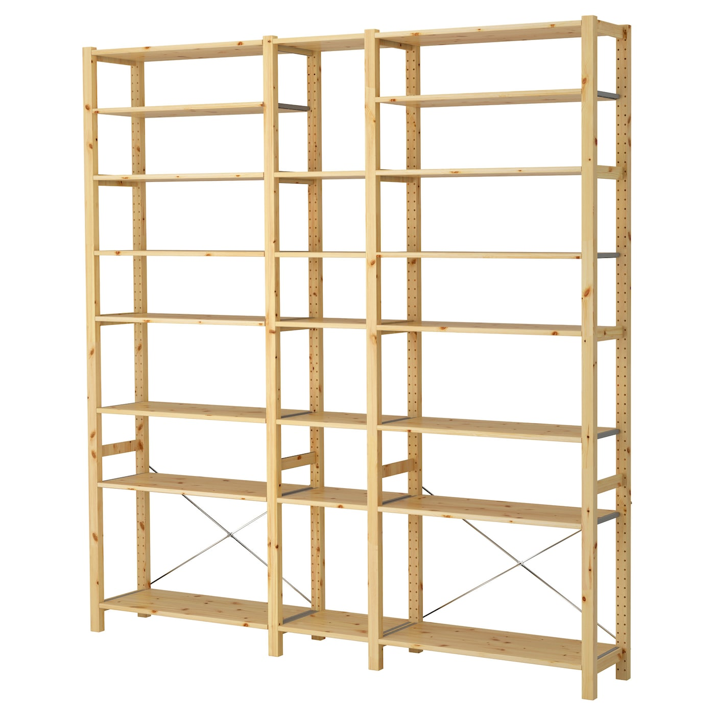 ivar 3 sections shelves pine 219 x 30 x 226 cm ikea. Black Bedroom Furniture Sets. Home Design Ideas