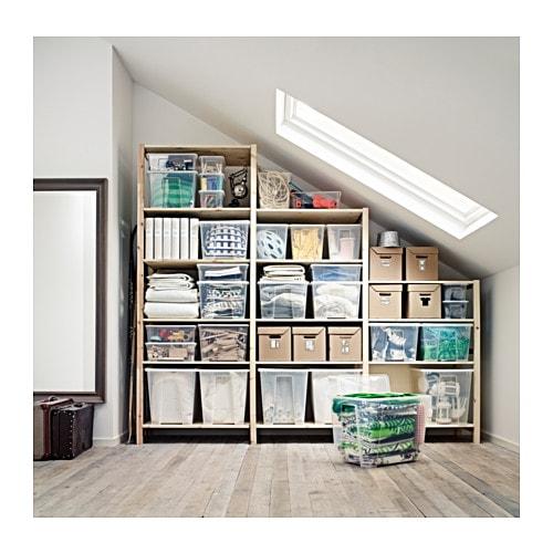 Ivar 3 sections shelves pine 259x50x226 cm ikea - Etagere en escalier ikea ...