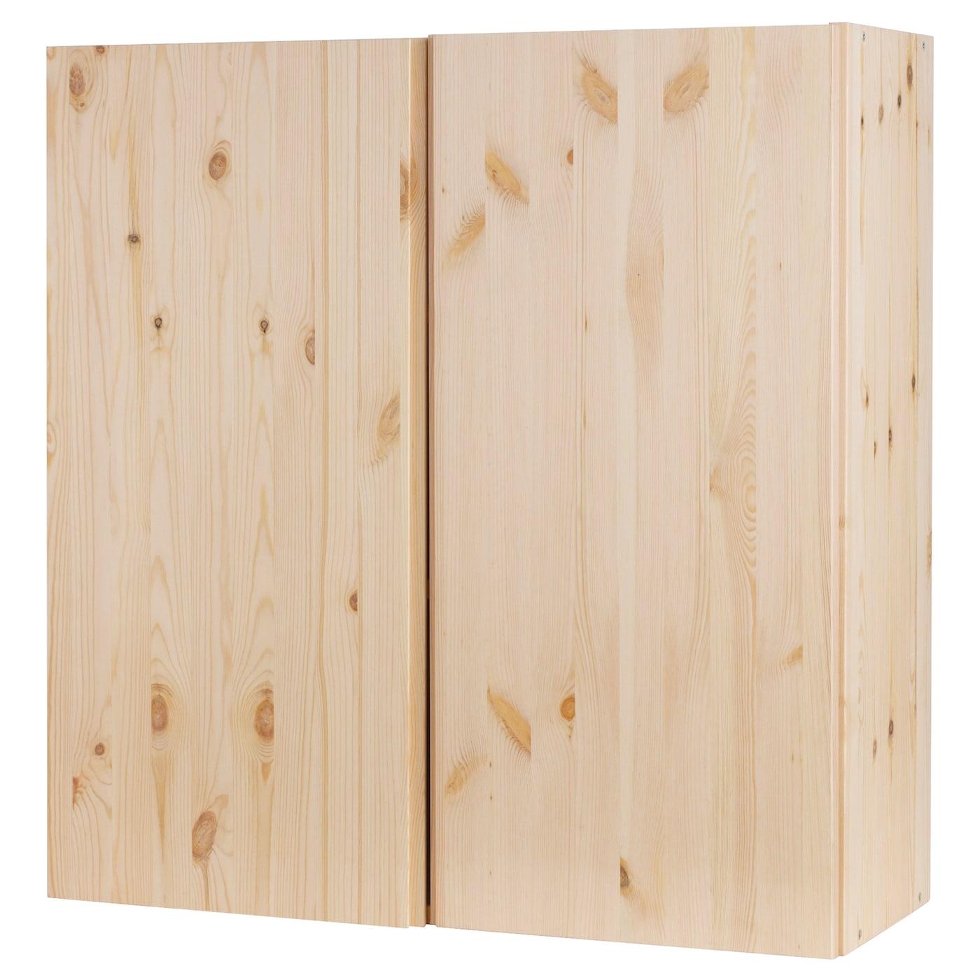 Natural Unfinished Pine: IVAR Cabinet Pine 80 X 30 X 83 Cm
