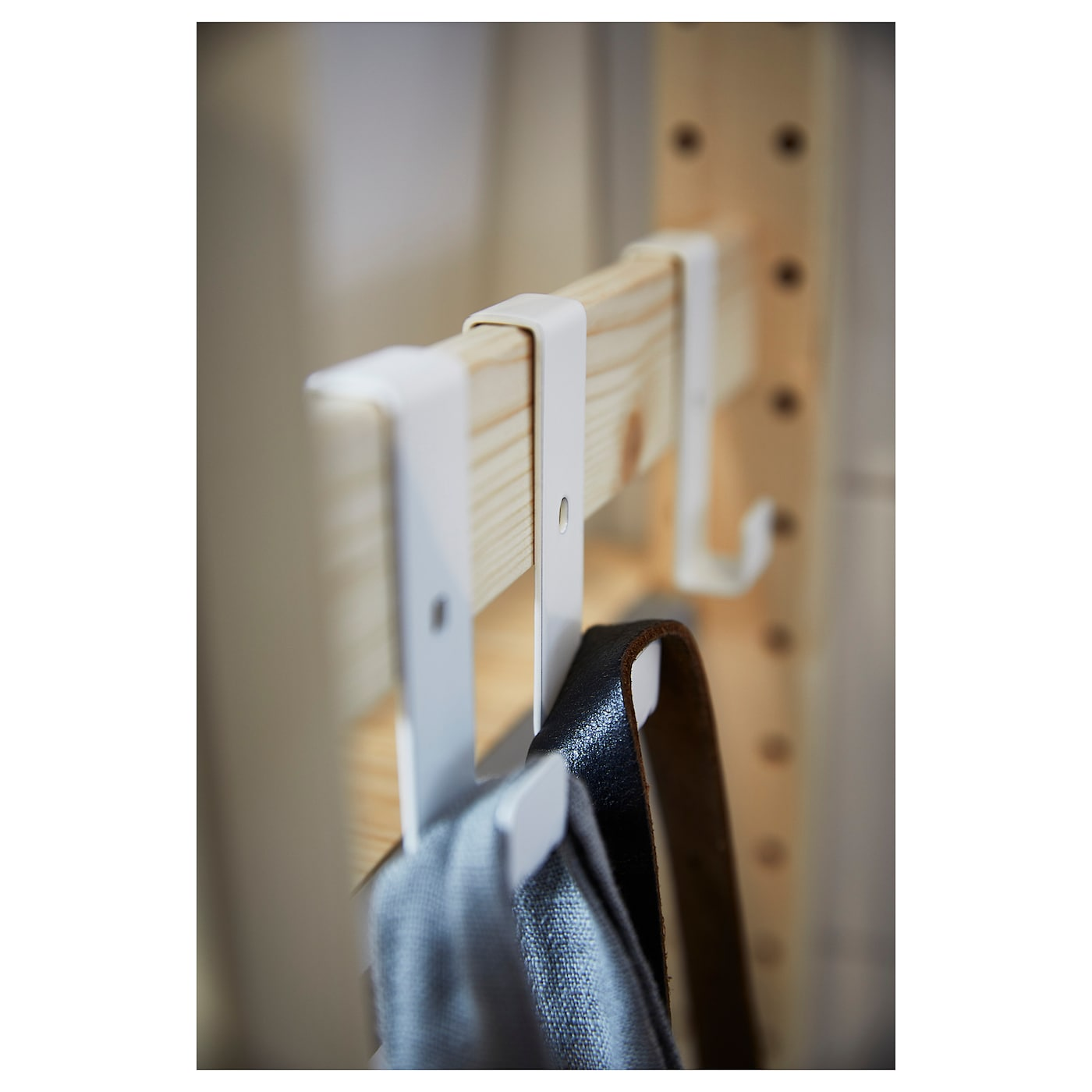 IKEA IVAR hook for side unit Easy to attach and simple to move – you don't need any screws or tools.