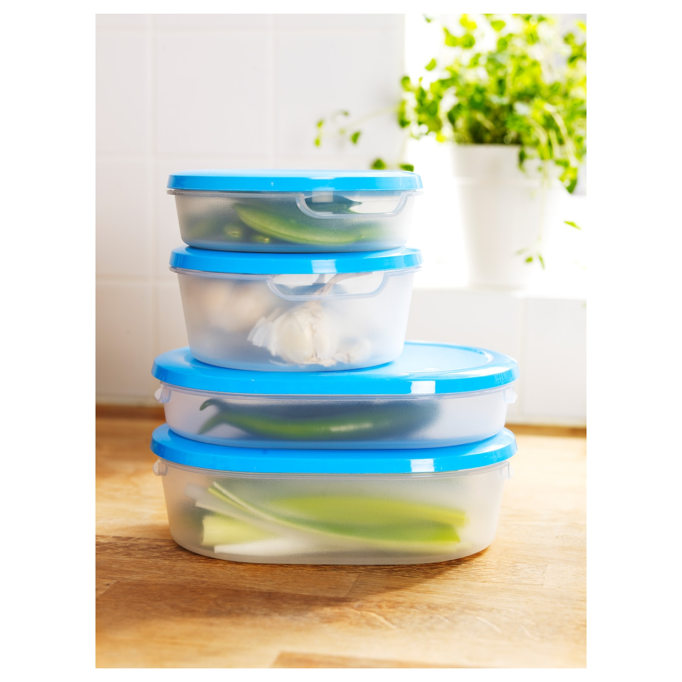 IKEA JÄMKA food container with lid, set of 4
