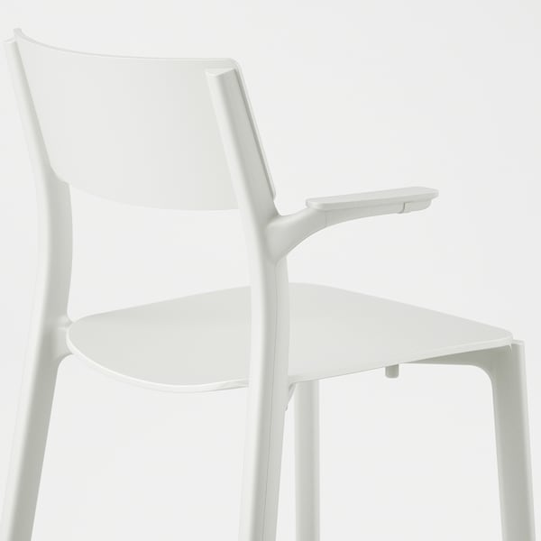 JANINGE Chair with armrests, white