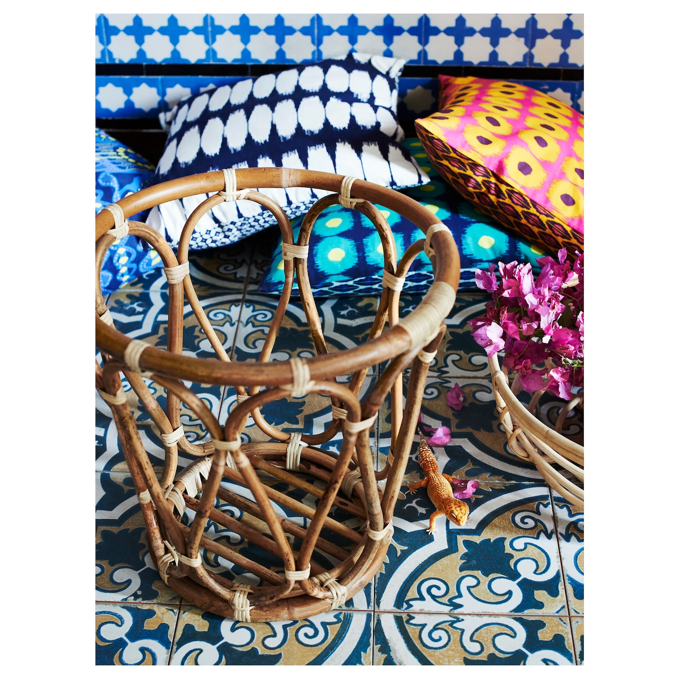 IKEA JASSA basket Handmade by skilled craftspeople, which makes every product unique.