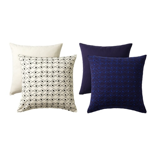 IKEA JASSA cushion cover Embroidery adds texture and lustre to the cushion.