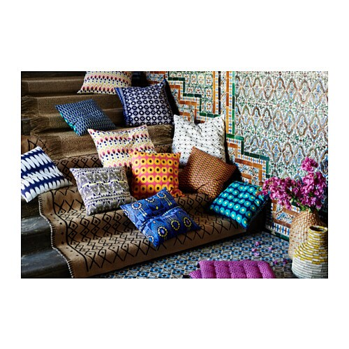 IKEA JASSA cushion cover You can easily vary the look because the two sides have different designs.