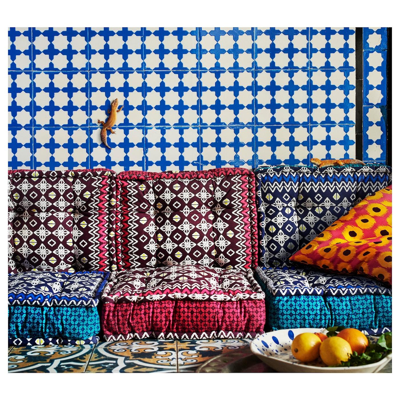 Jassa Floor Cushion Assorted Colours 48x48x10 Cm Ikea