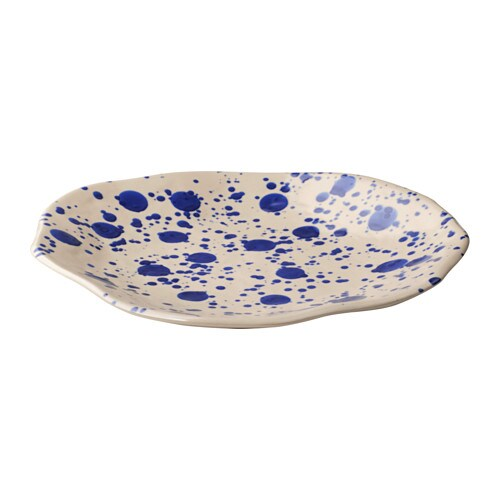 IKEA JASSA plate Hand-painted by a skilled craftsman.