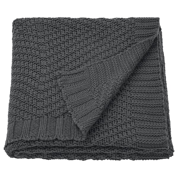 JENNYANN throw dark grey 170 cm 130 cm 900 g