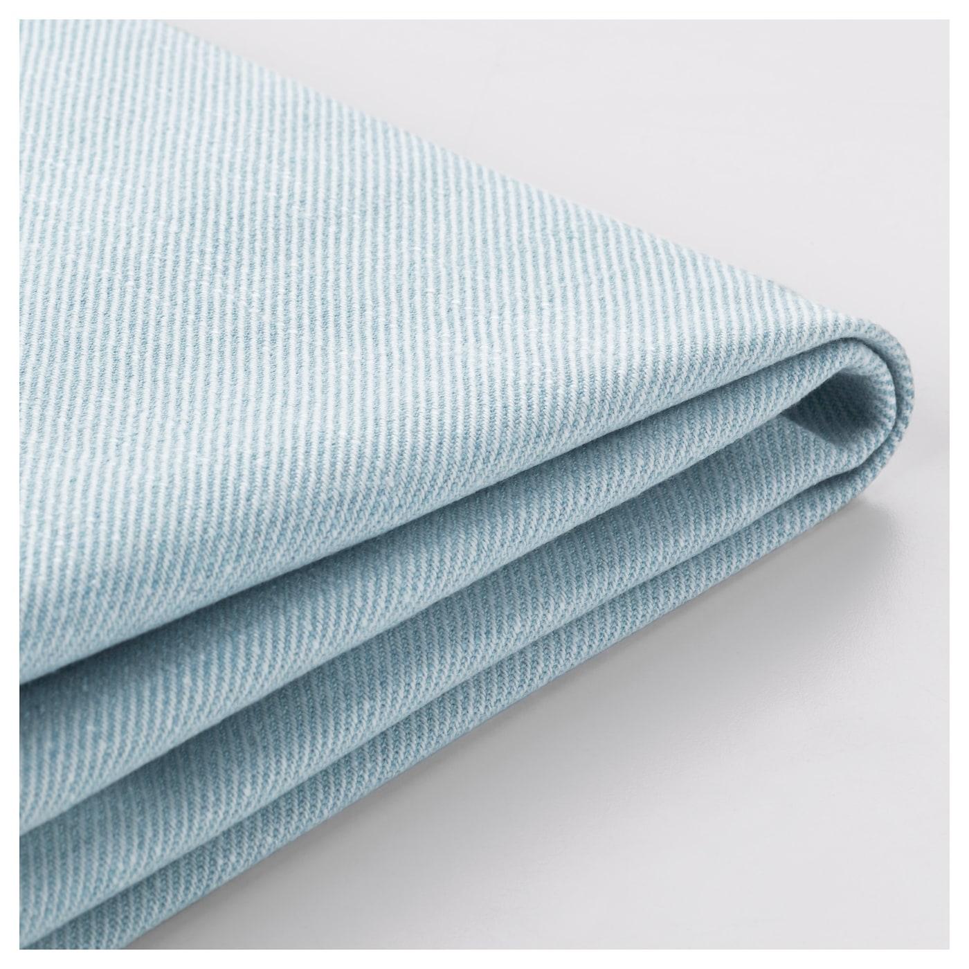 Jennylund armchair cover nordvalla light blue ikea for Light blue armchair