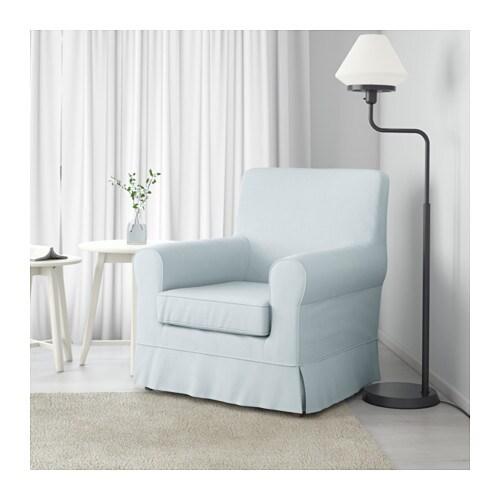 Jennylund armchair nordvalla light blue ikea