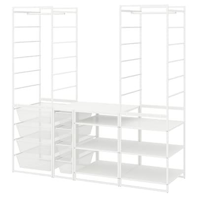 JONAXEL Frame/mesh baskts/clths rl/shlv uts, white, 173x51x173 cm