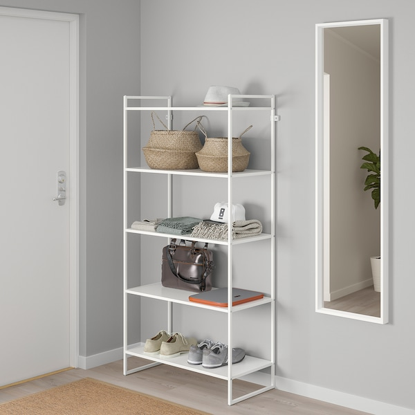 JONAXEL Shelving unit, white, 80x38x160 cm