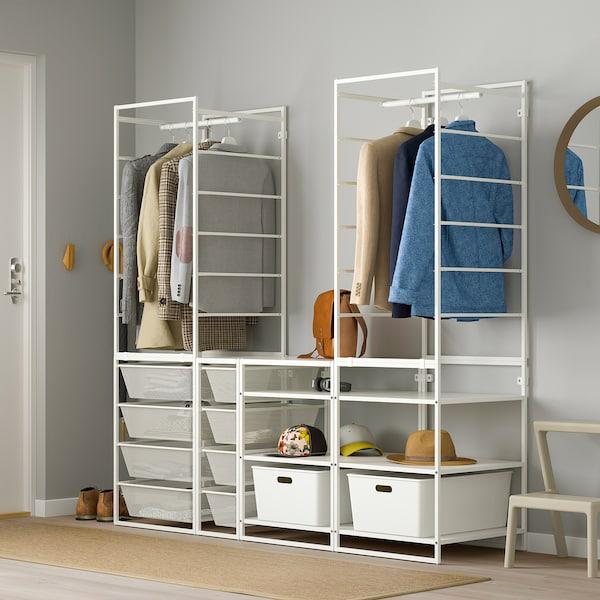 JONAXEL Wardrobe combination, white, 173x51x173 cm