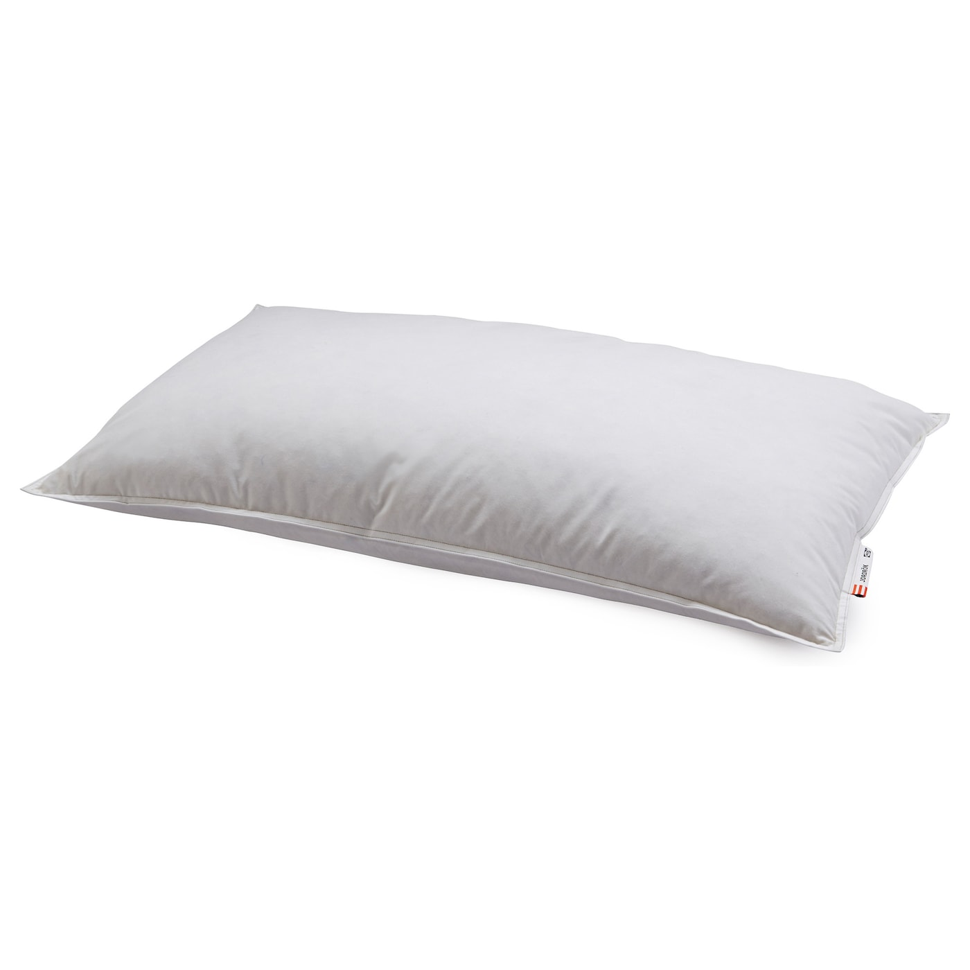 IKEA JORDRÖK pillow, firmer A firm pillow in soft cotton, filled with duck down and feathers.