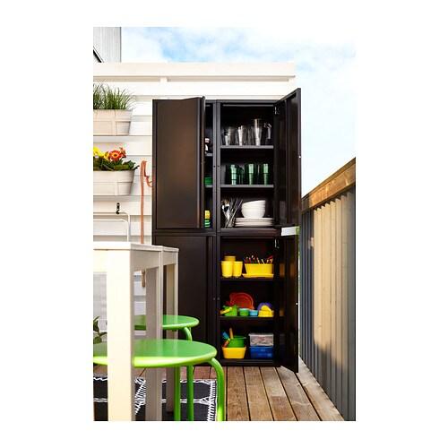 josef cabinet in outdoor dark grey 40x35x86 cm ikea. Black Bedroom Furniture Sets. Home Design Ideas