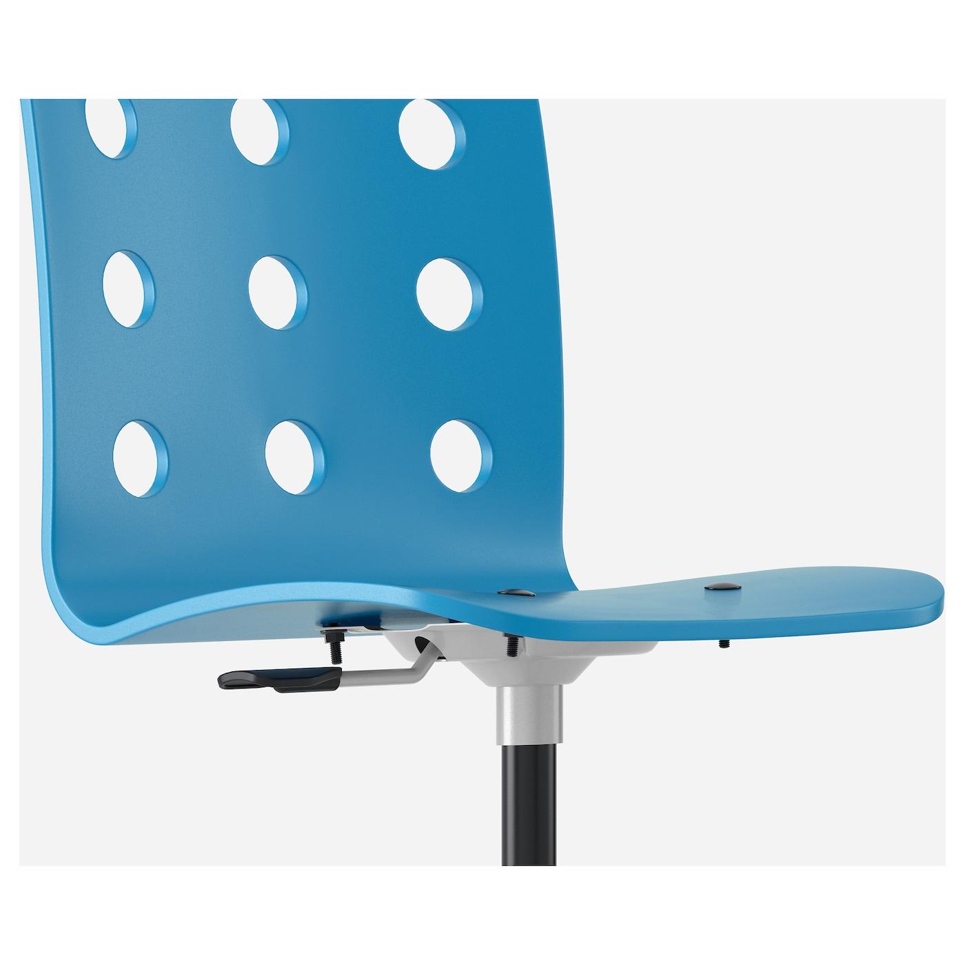 jules children 39 s desk chair blue silver colour ikea. Black Bedroom Furniture Sets. Home Design Ideas