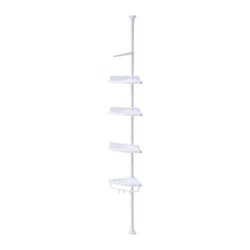 IKEA KÄGLAN corner shelf Suitable for use in high humidity areas since it is water-resistant.
