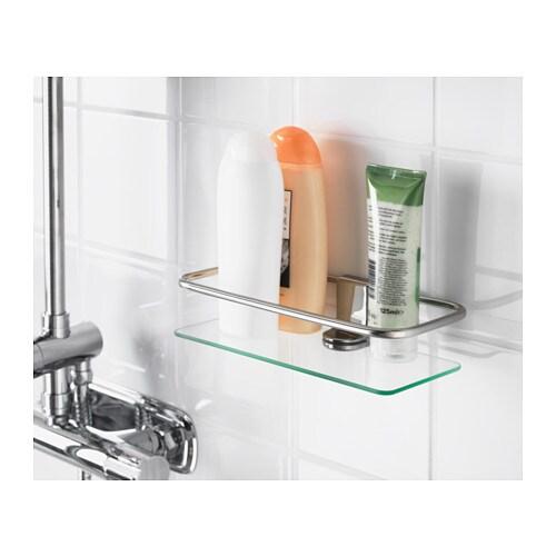 Kalkgrund shower shelf chrome plated 24x6 cm ikea - Cabine de douche ikea ...