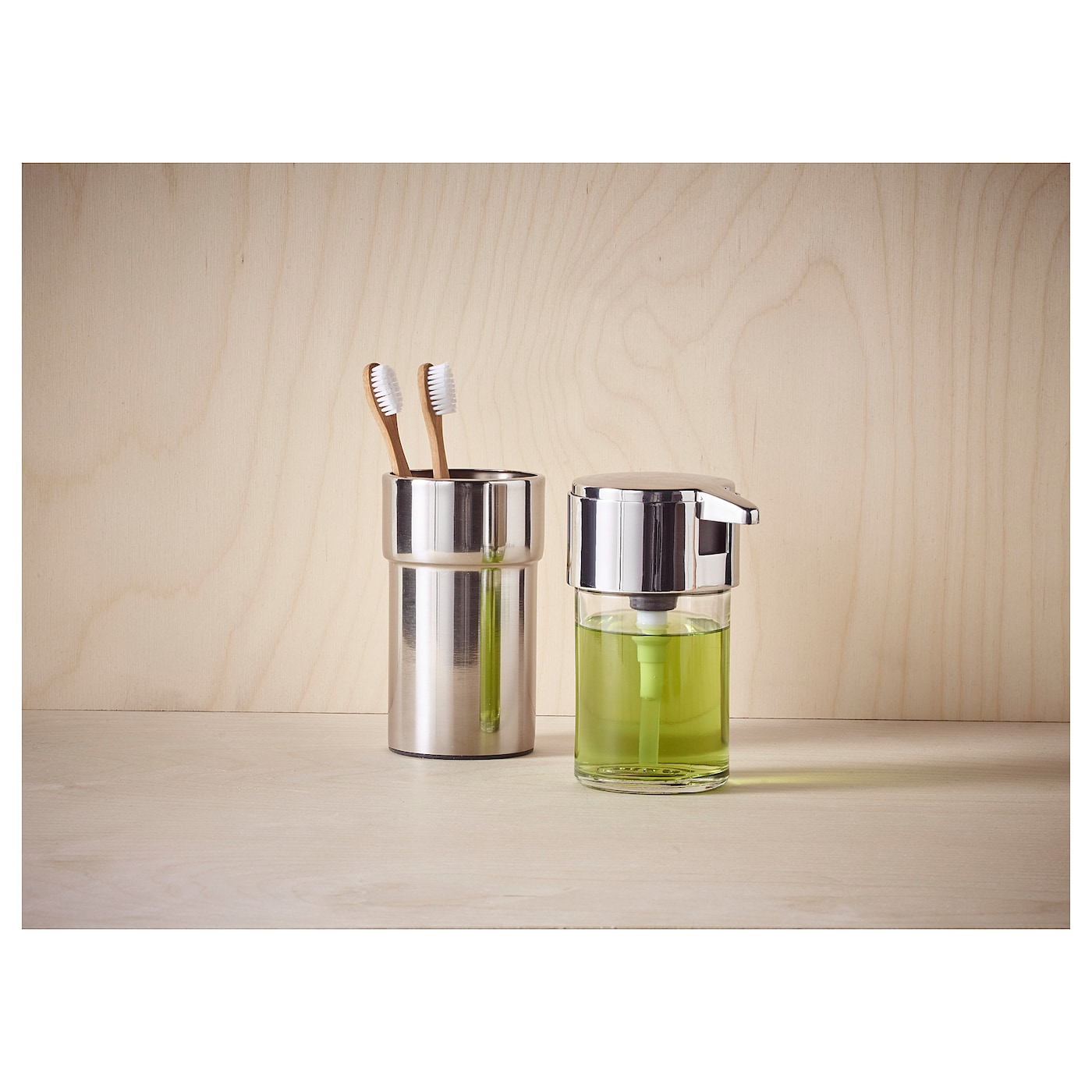 IKEA KALKGRUND toothbrush holder The chrome finish is durable and resistant to corrosion.