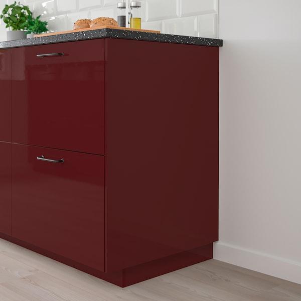 KALLARP Cover panel, high-gloss dark red-brown, 62x220 cm