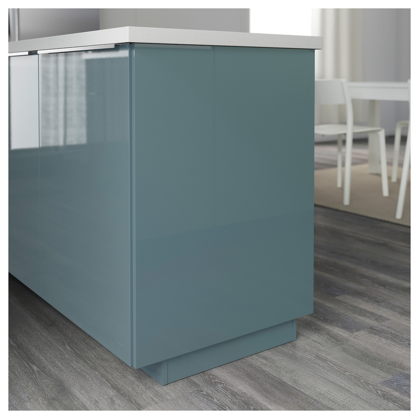 Kallarp cover panel high gloss grey turquoise 39x86 cm ikea for Cuisine kallarp