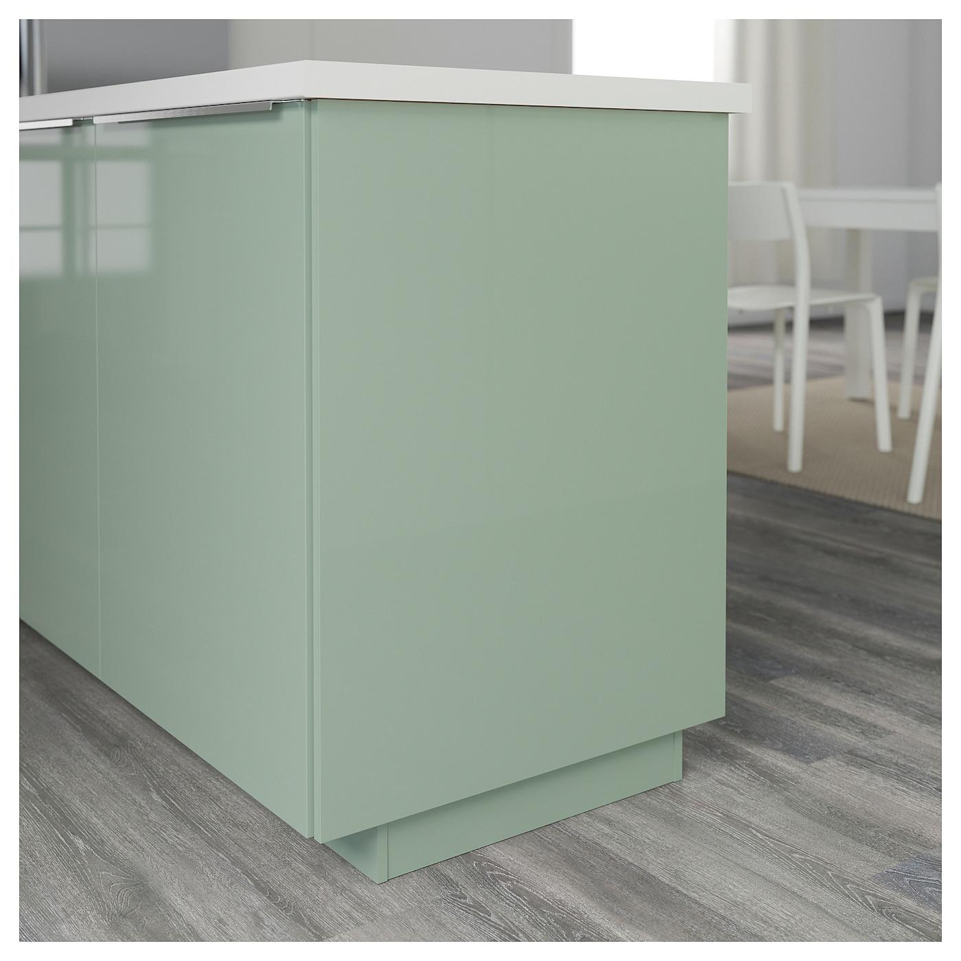 Kallarp Cover Panel High Gloss Light Green 39x86 Cm Ikea