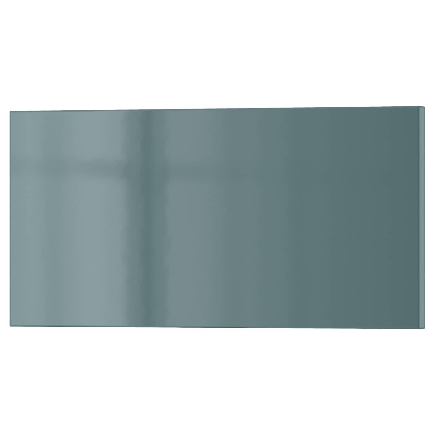 KALLARP Drawer front Highgloss greyturquoise 40×20 cm  IKEA