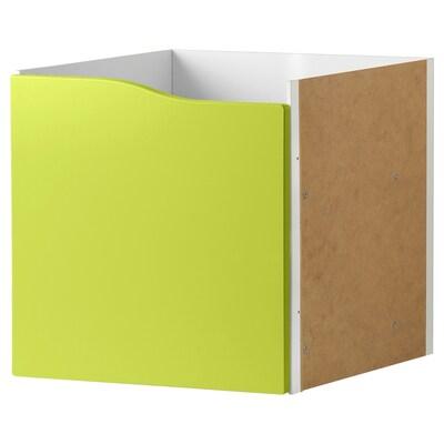 KALLAX insert with door light green 33 cm 37 cm 33 cm