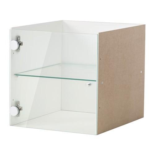 Kallax Insert With Glass Door White 33x33 Cm Ikea